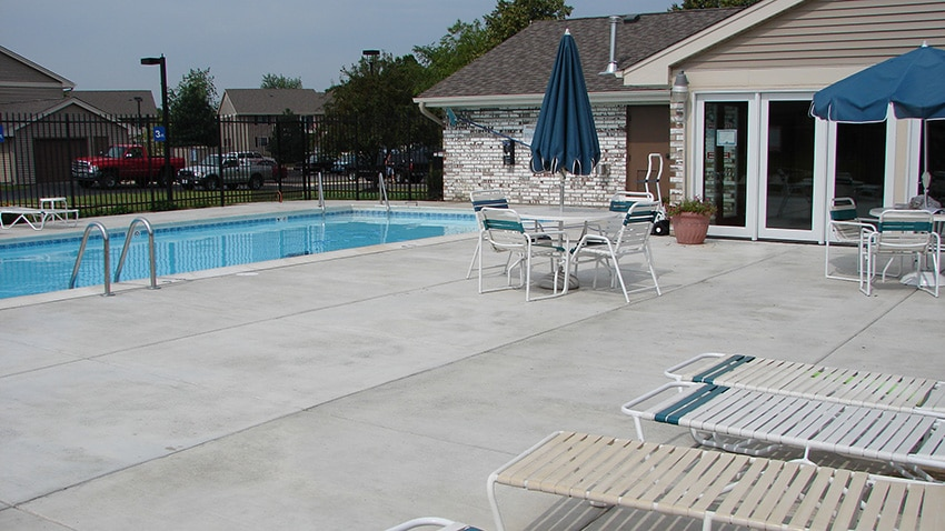 Concrete By Sennstrom Commercial Chicagoland Pool Deck